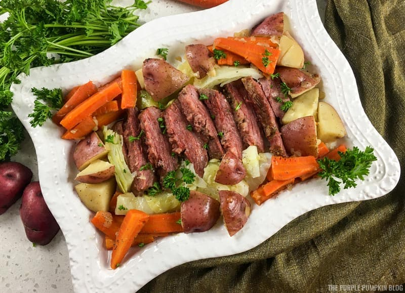 Corned Beef and Cabbage Platter
