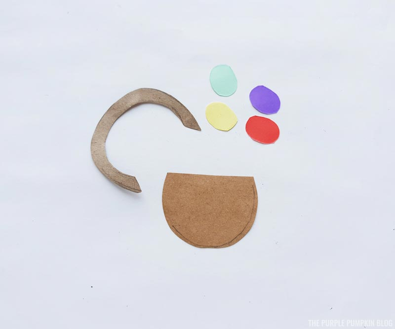 Easter Basket Paper Craft Step (1)