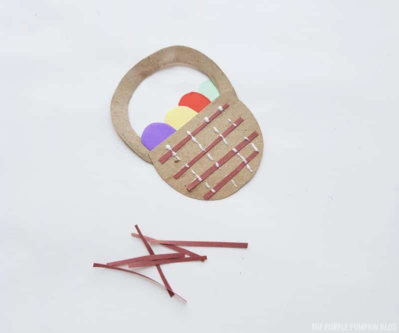 Easter Basket Paper Craft Step (4)