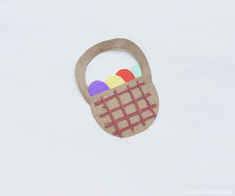 Easter Basket Paper Craft Step (5)