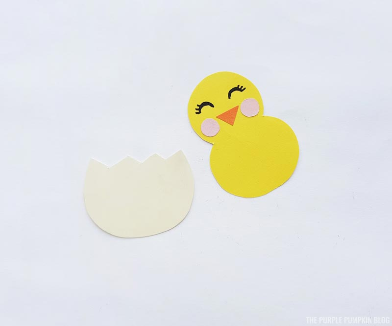 Easter Chick Paper Craft Step 2