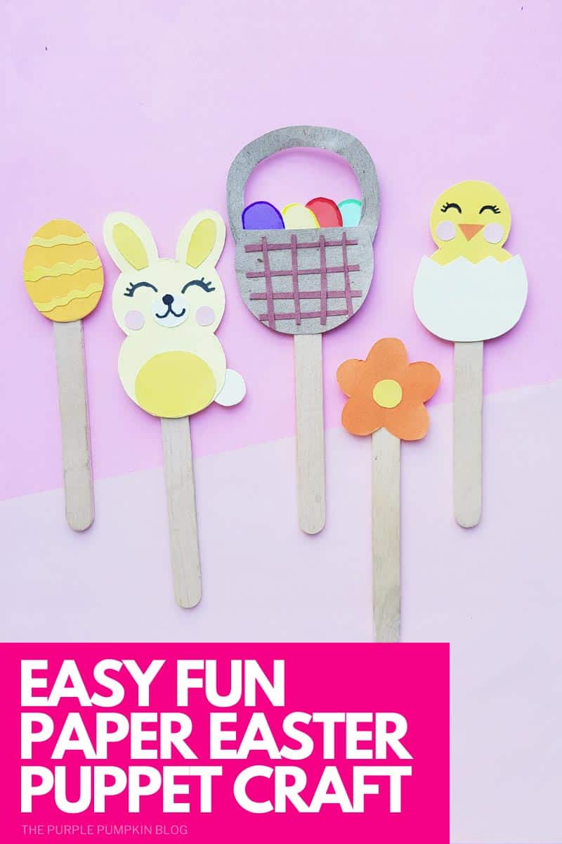 Easy Fun Paper Easter Puppets Craft