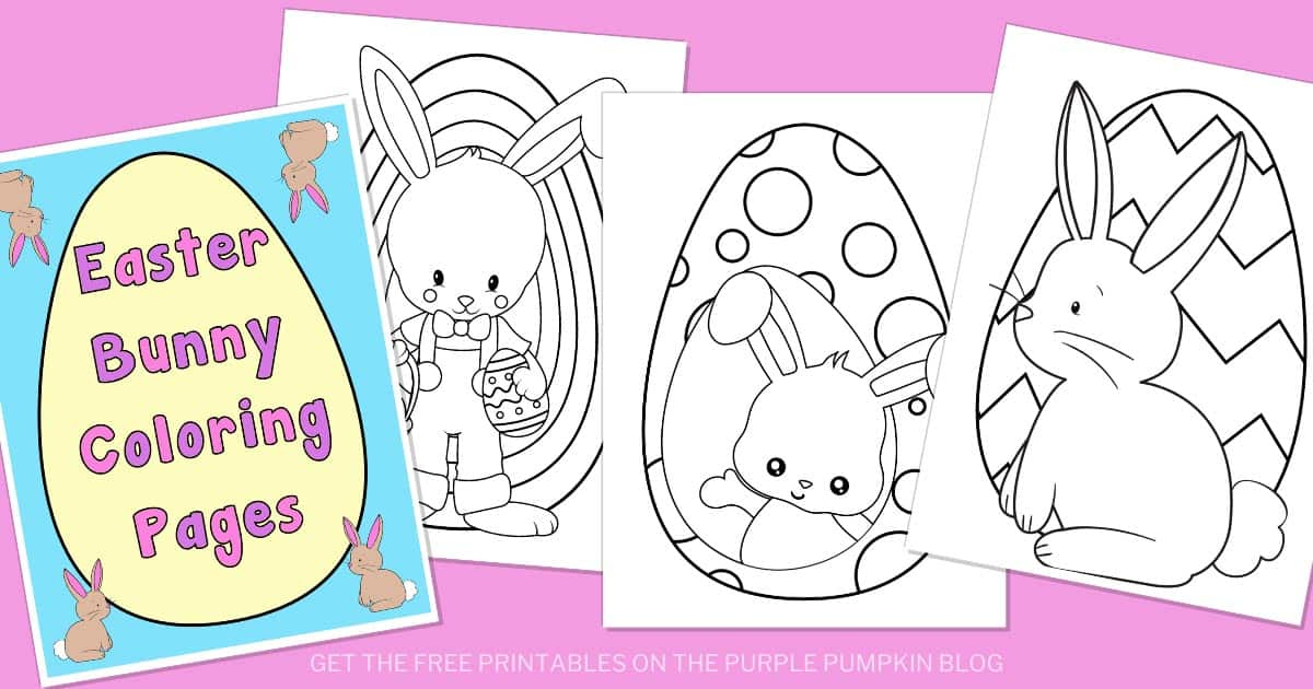Free Easter Bunny Coloring Pages Printable Easter Activities