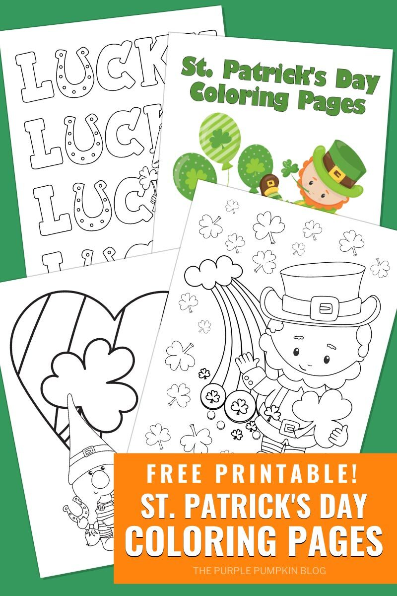 Coloring Pages for St. Patrick's Day