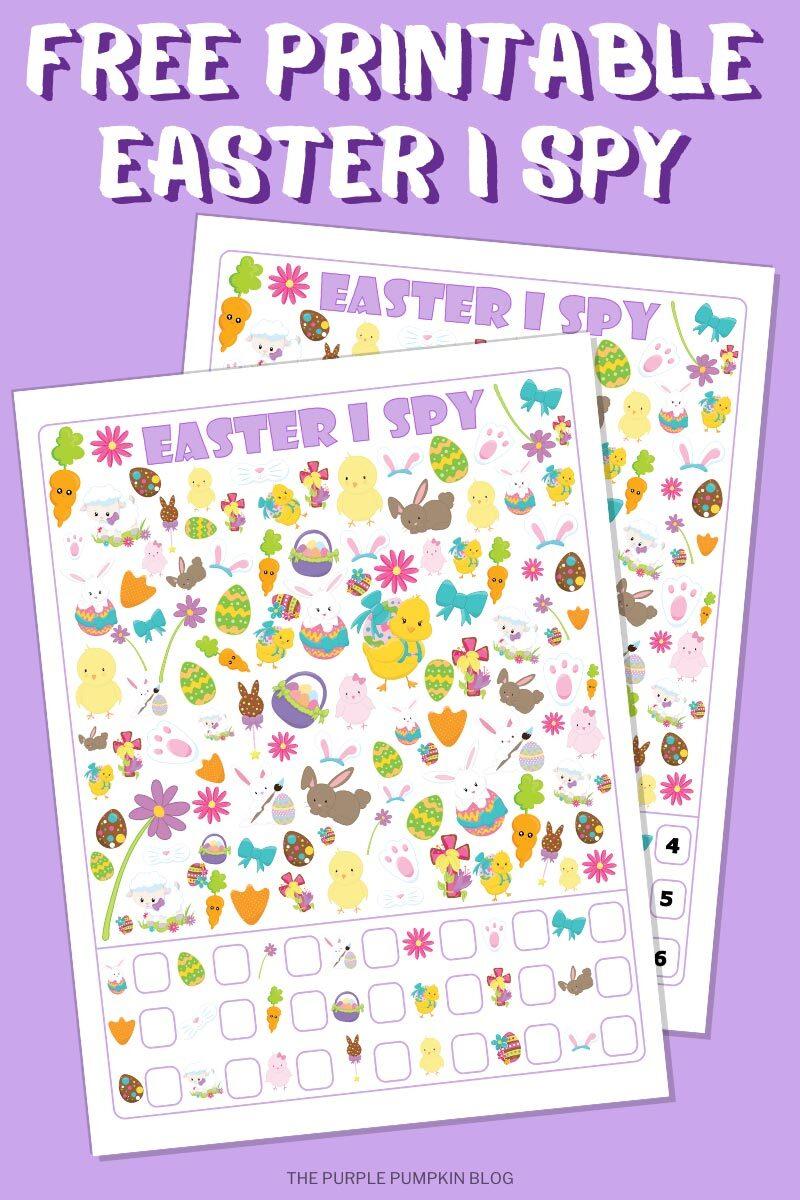Printable Easter I Spy Activity Sheet  Kids Printable Activity Sheet  I Spy Activity Page  Kids Entertainment Sheet  I Spy Activity