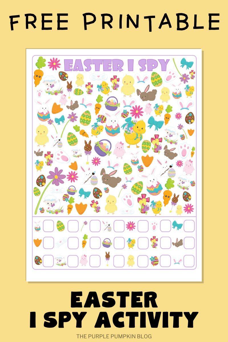 Free Printable Easter I Spy Activity