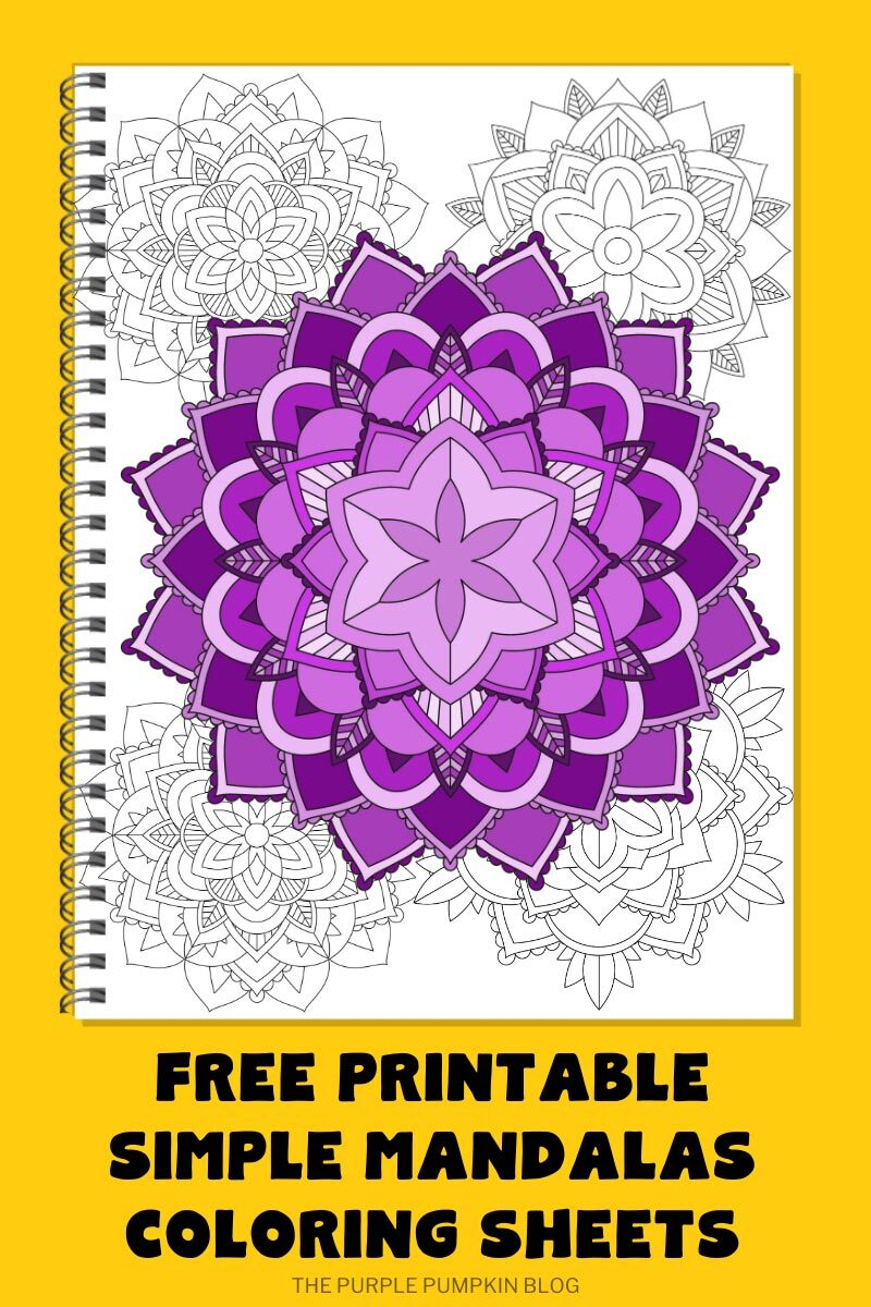 Free Printable Simple Mandalas Coloring Sheets