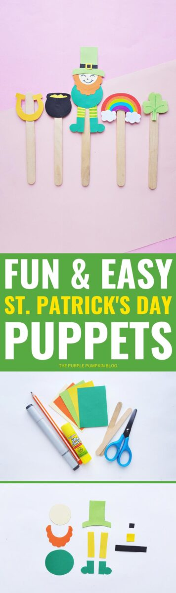 Fun & Easy St. Patrick's Day Puppets