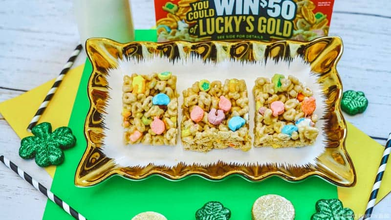 Lucky Charms Cereal Treat Squares