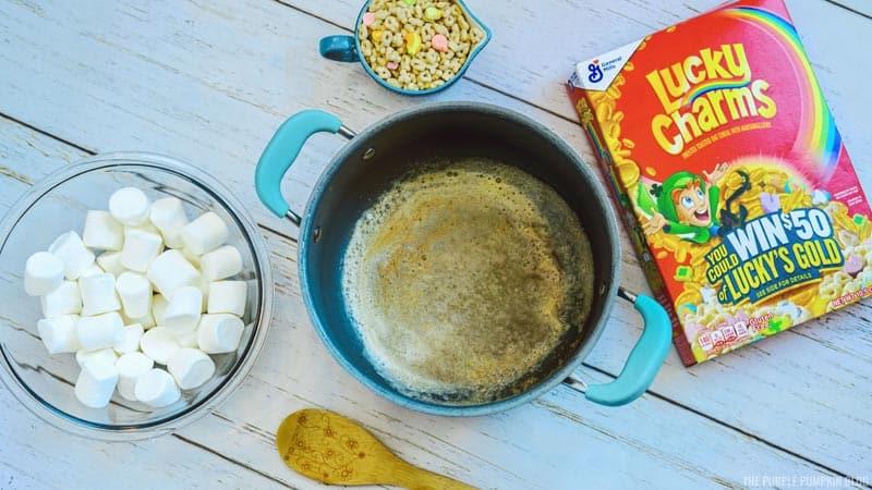 Lucky Charms Process - Melt Butter