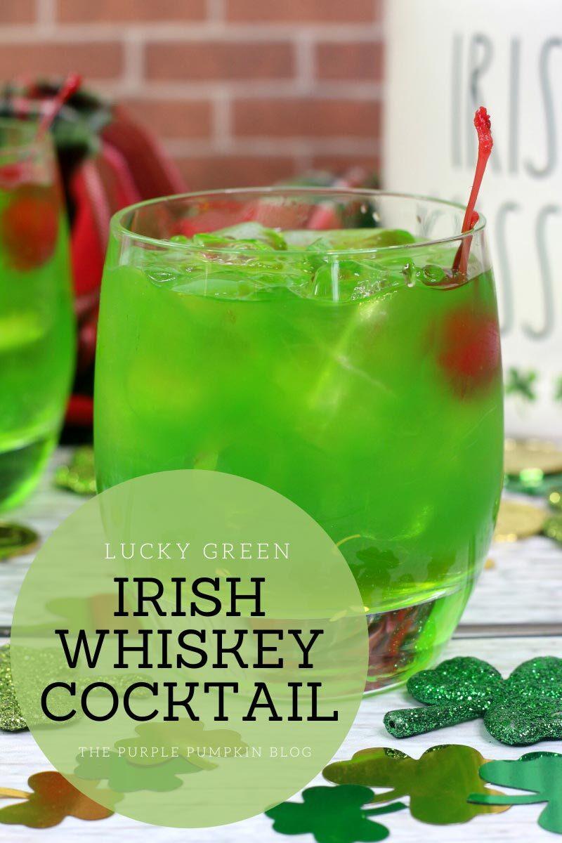 Lucky Green Irish Whiskey Cocktail