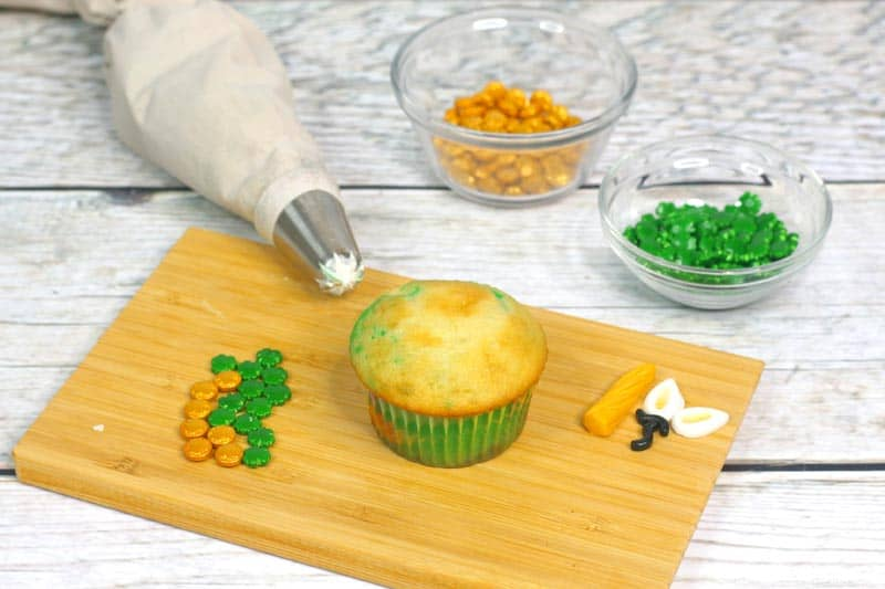 Lucky Unicorn Cupcake Process 1