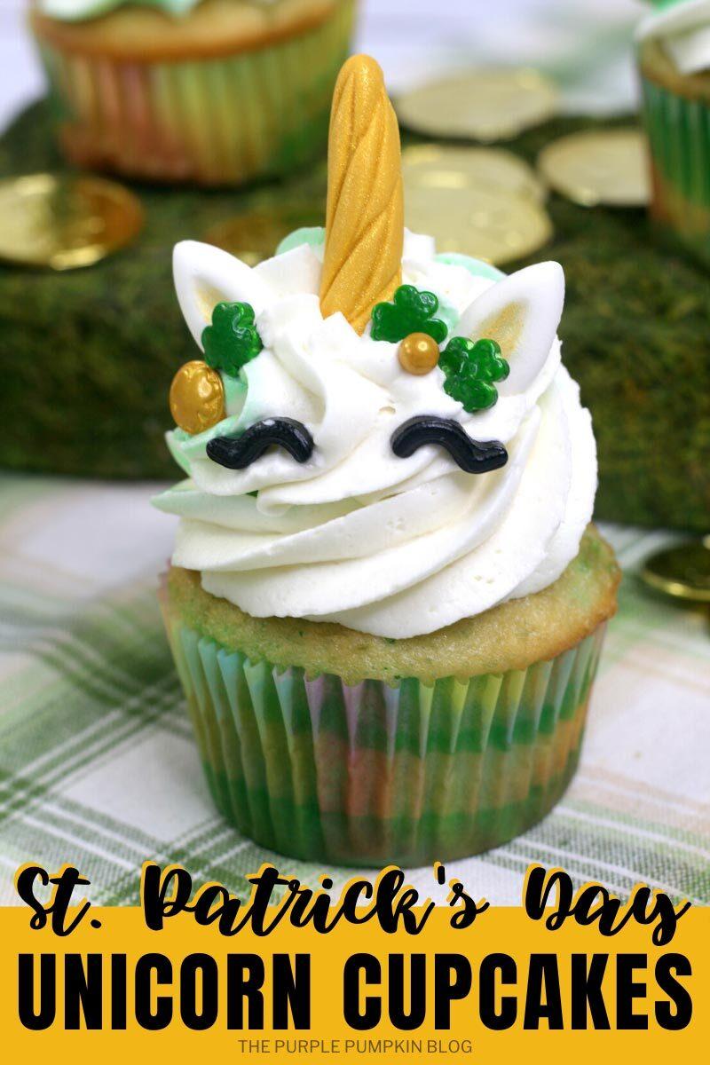 St. Patrick's Day Unicorn Cupcakes