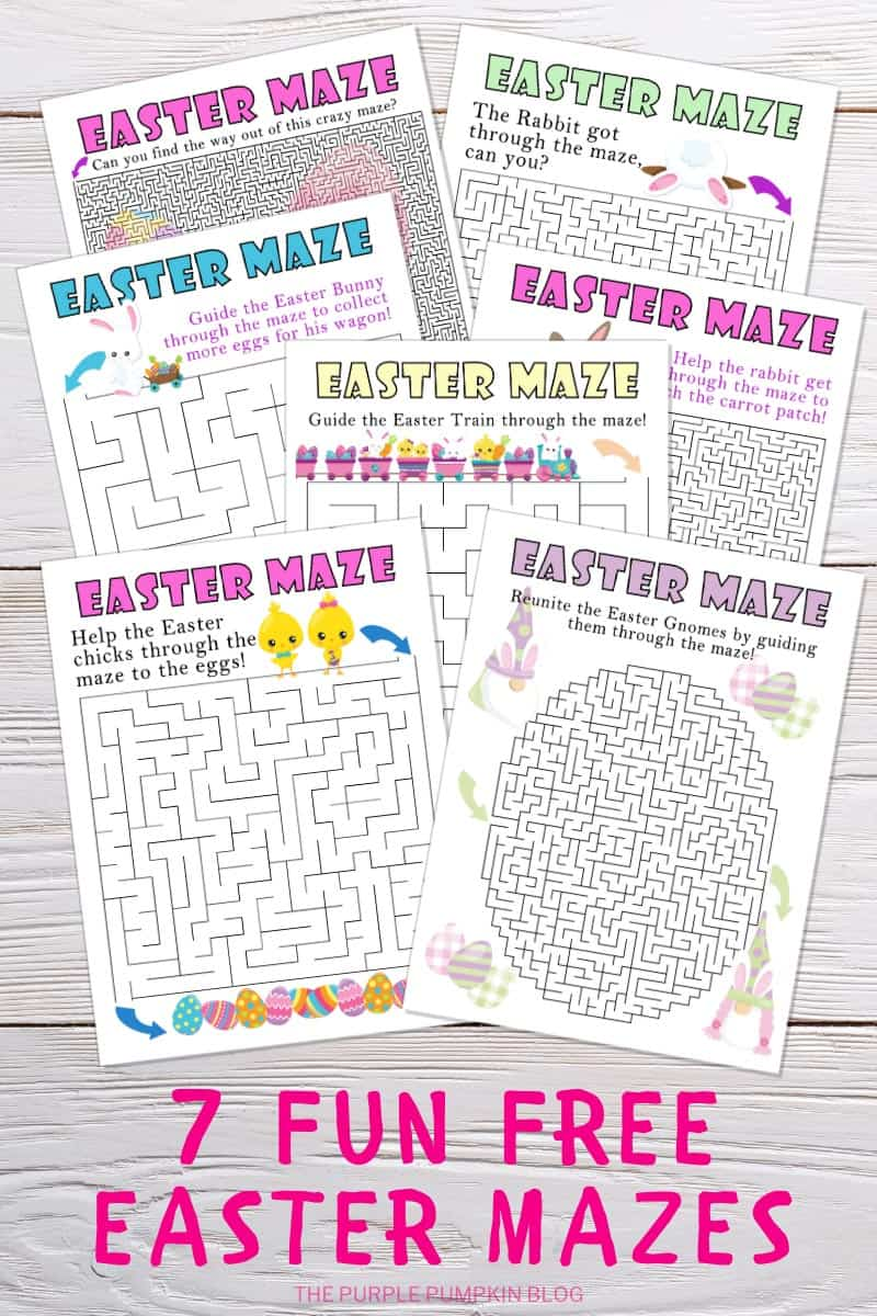 7 Fun Free Printable Easter Mazes