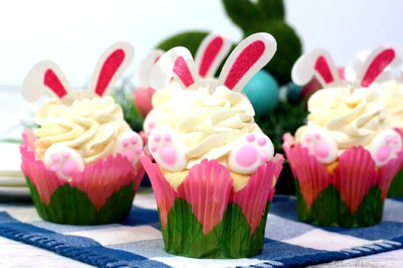 Completed Bunny Cupcakes for Easter