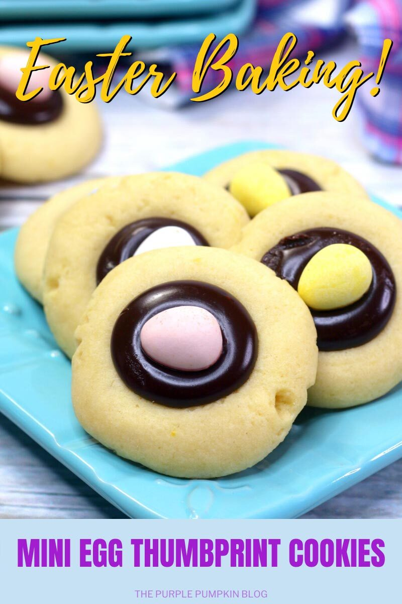 Easter Baking Mini Egg Thumbprint Cookies