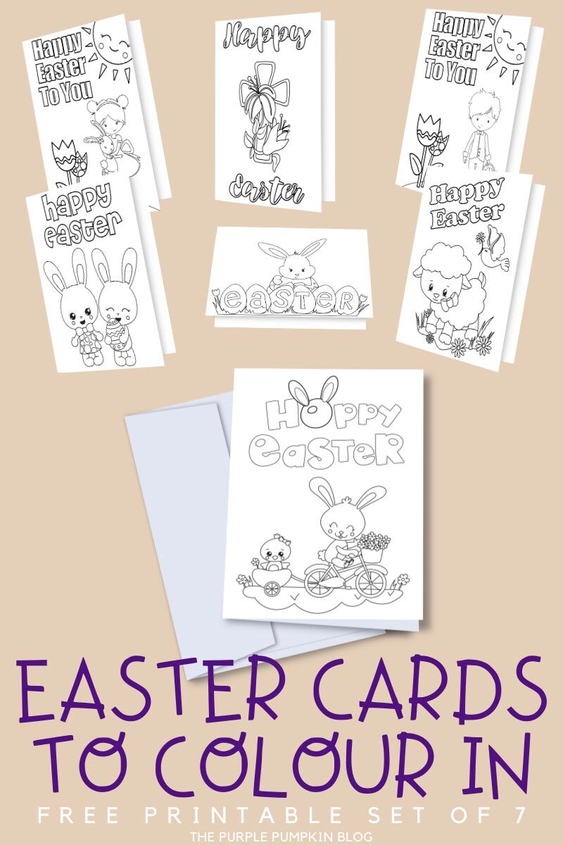 Easter Cards to Colour In