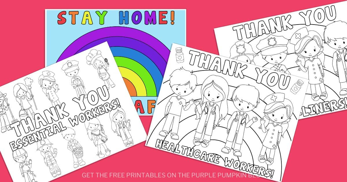 Free Printable Key Workers Essential Workers Coloring Sheets