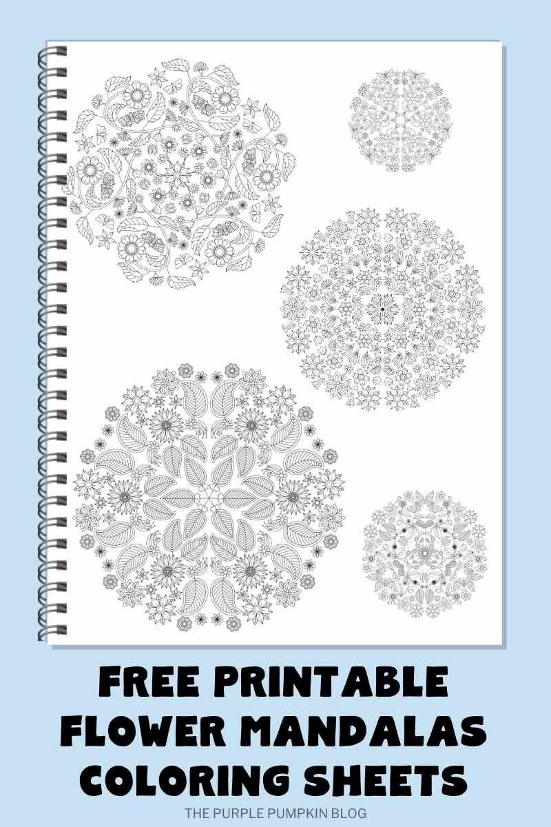 Free Printable Flower Mandalas Coloring Sheets
