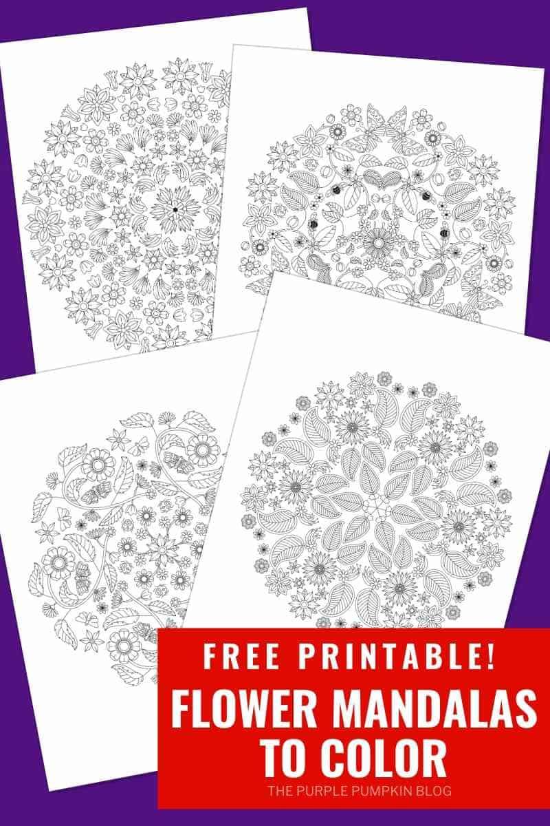 Free Printable Flower Mandalas To Color