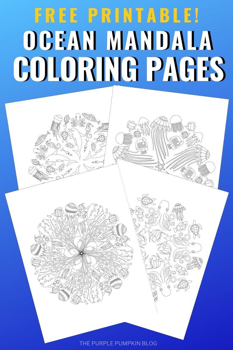 Free Printable Ocean Mandala Coloring Pages