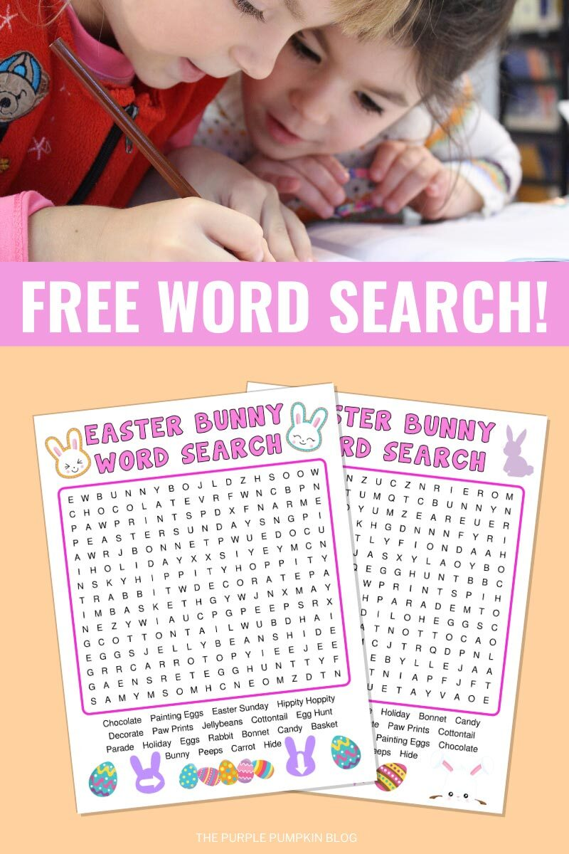 Free Word Search for Easter