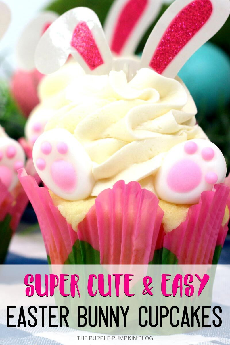 Super Cute & Easy Easter Bunny Cupcakes