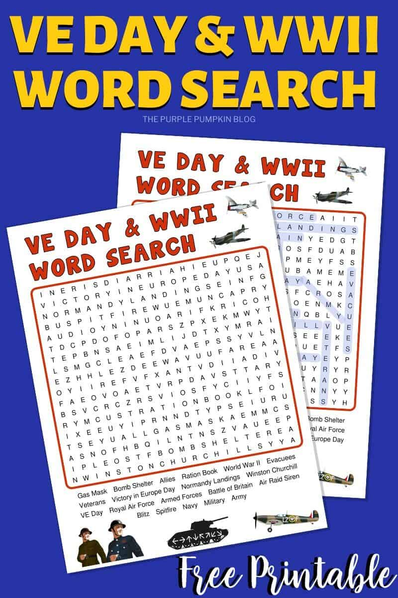 VE Day & WWII Wordsearch