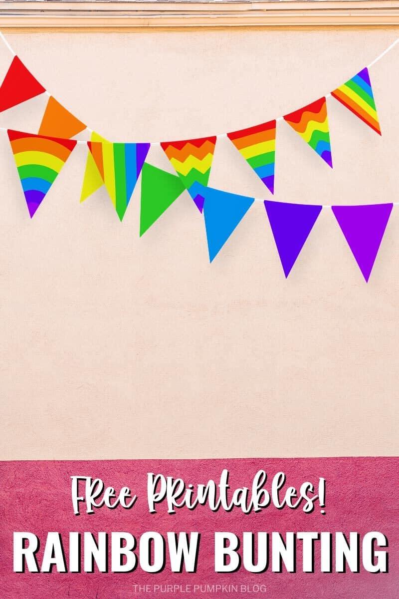 Free Printables Rainbow Bunting