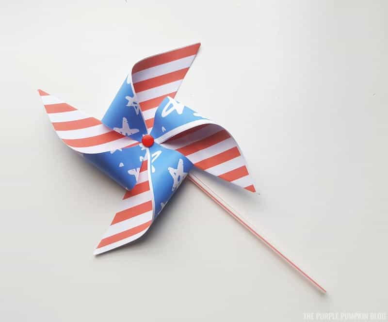 Pinwheel attached to straw