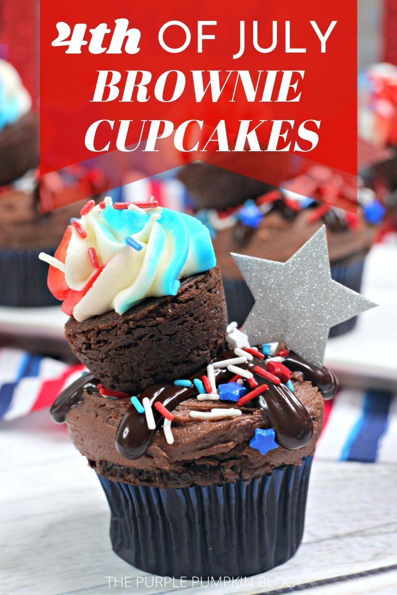 4th of July Brownie Cupcakes