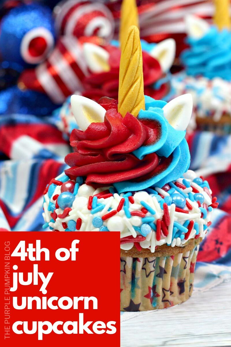 4th of July Unicorn Cupcakes