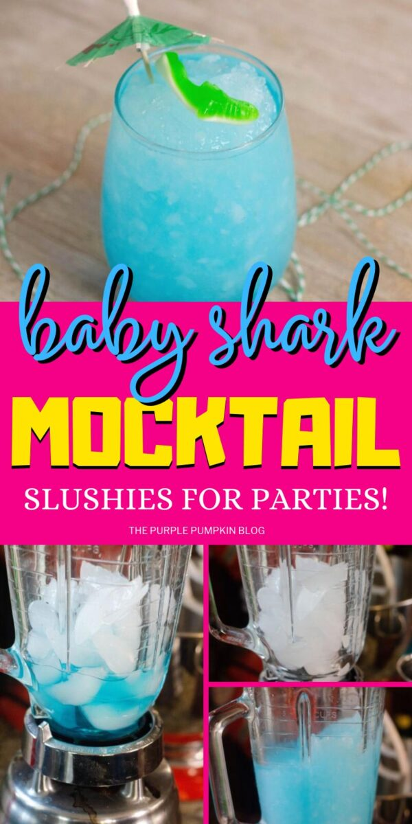 Baby Shark Mocktail Slushies for Parties