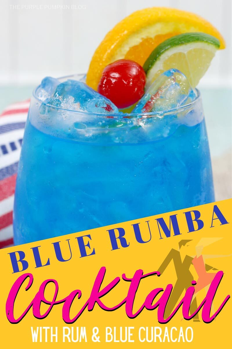 Blue Rumba Cocktail with Rum & Blue Curacao