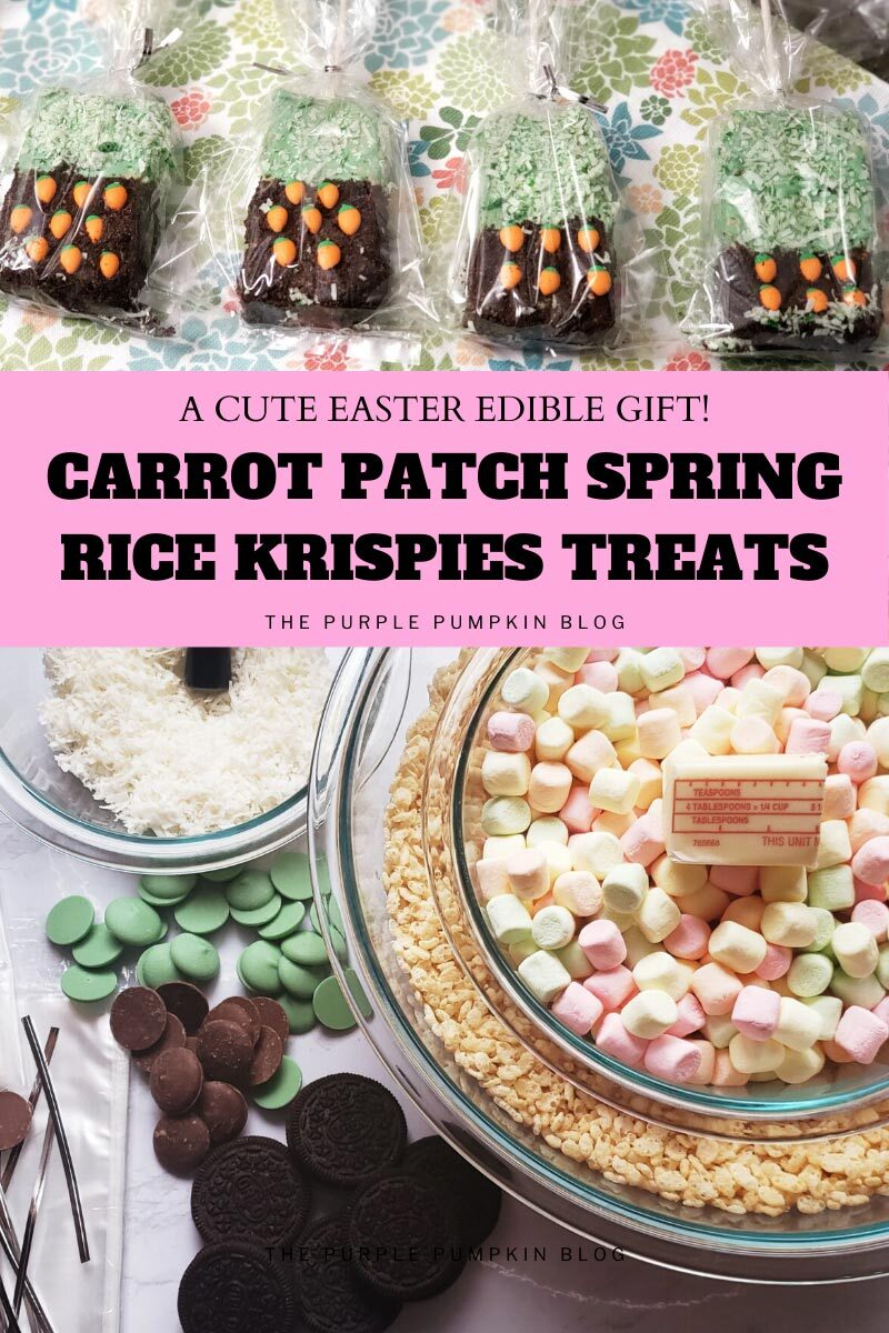 Carrot Patch Spring Rice Krispies Treats