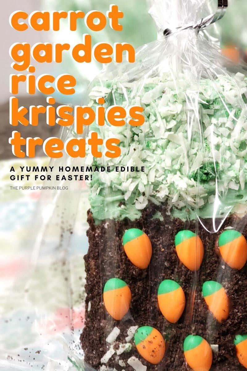 Carrot garden Rice Krispies Treats for Easter