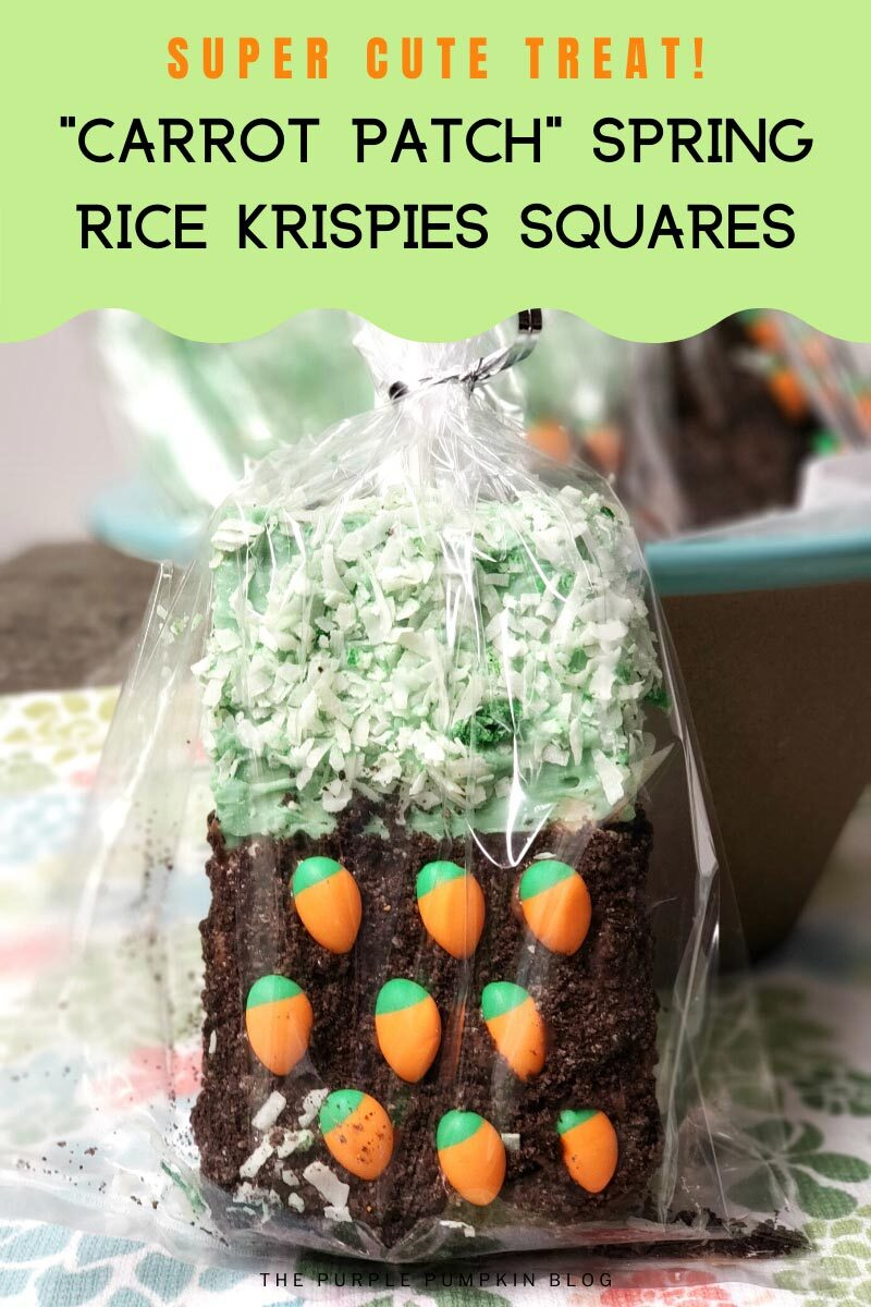 Carrot Patch Spring Rice Krispies Squares