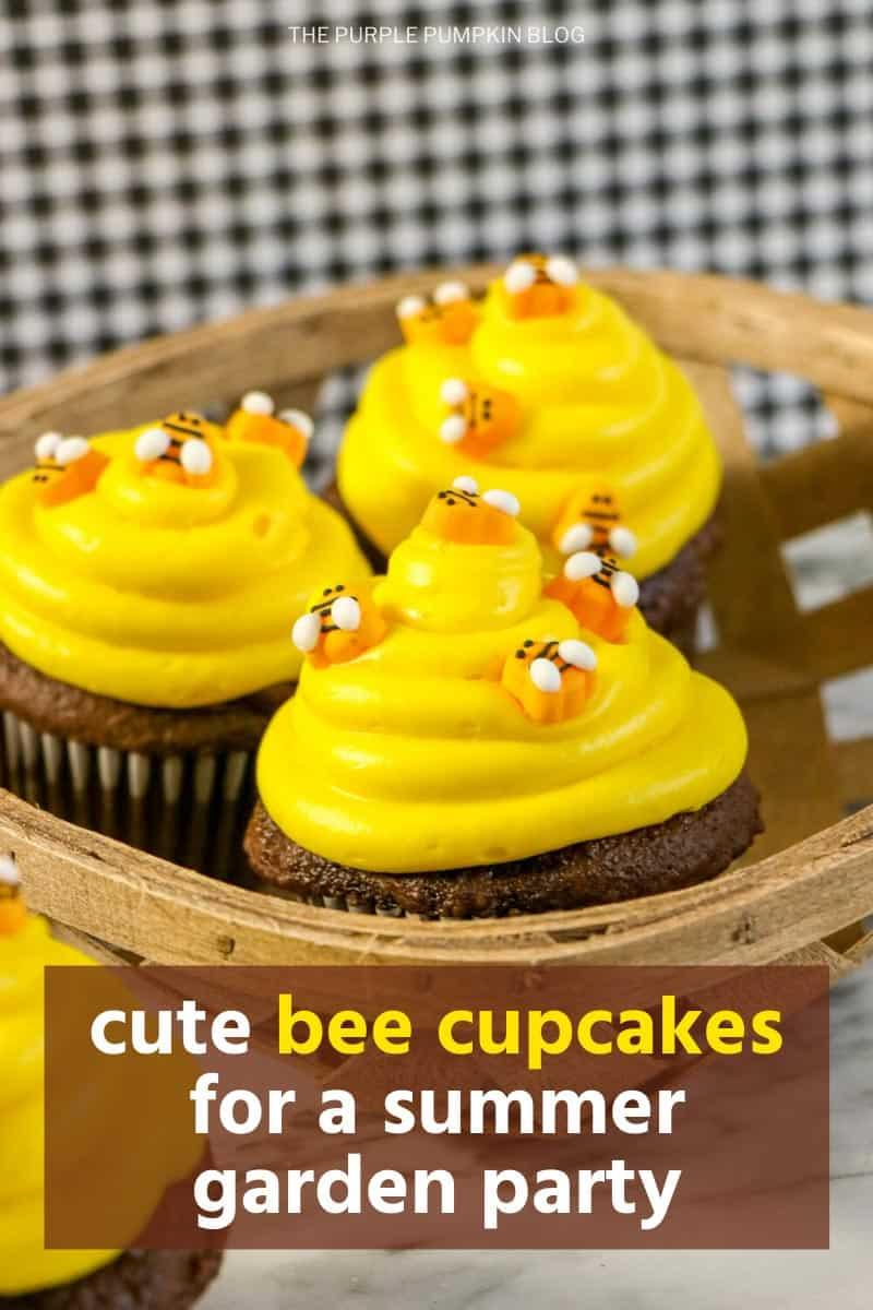 Cute-Bee-Cupcakes-for-a-Summer-Garden-Party