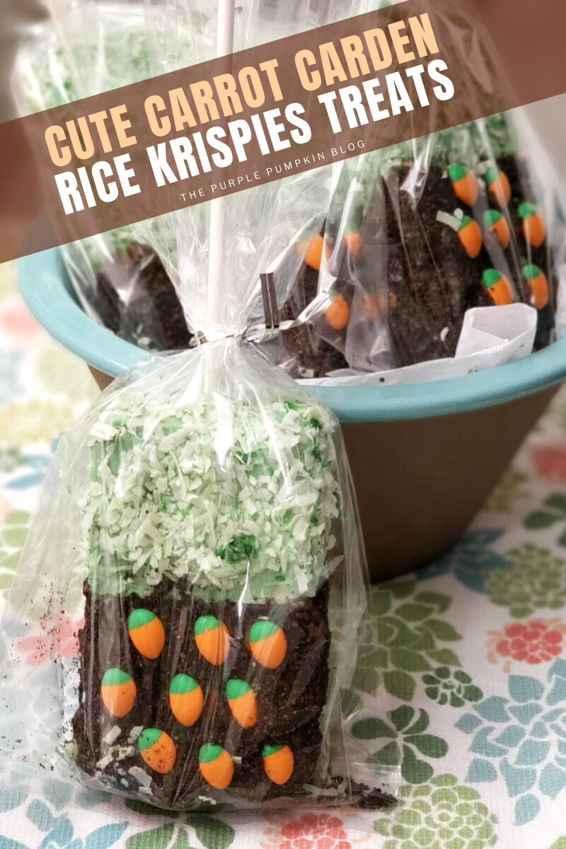 Cute Carrot Garden Rice Krispies Treats