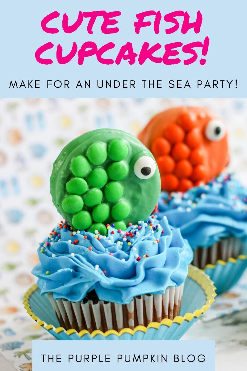 Cute Fish Cupcakes - Make for an Under the Sea Party!