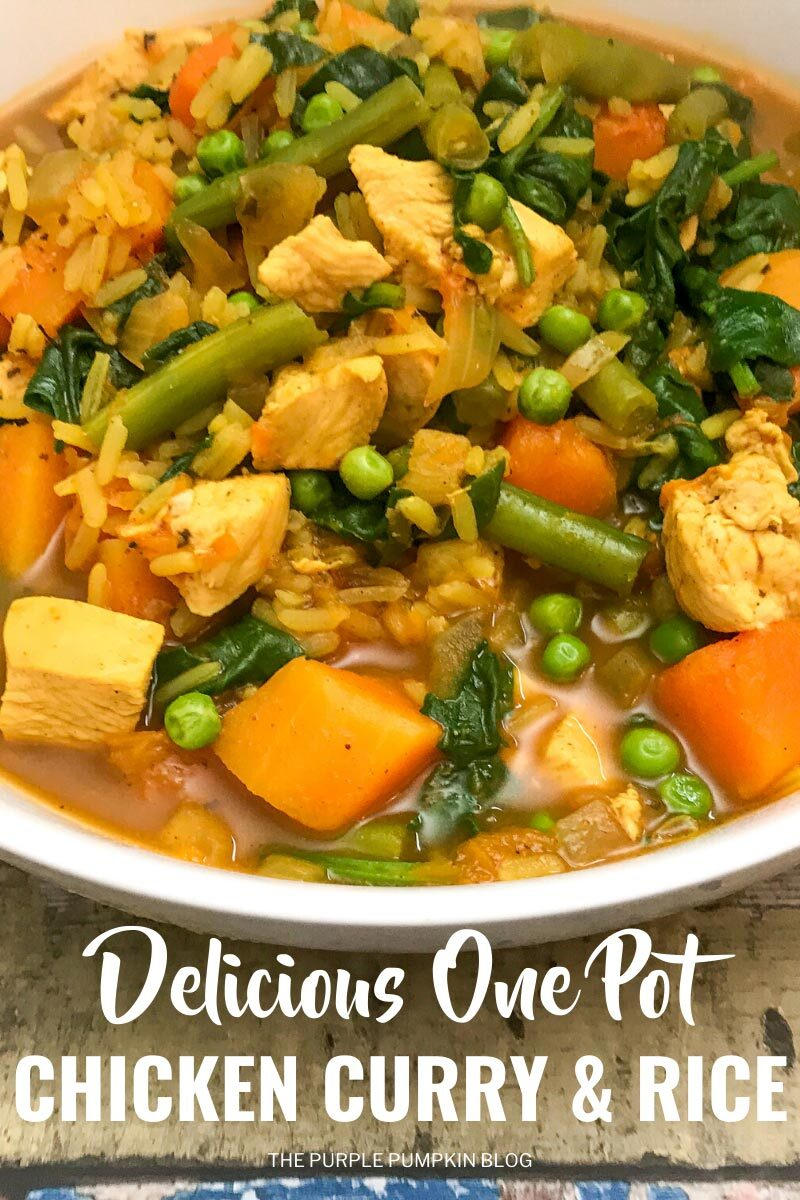 Delicious One Pot Chicken Curry & Rice