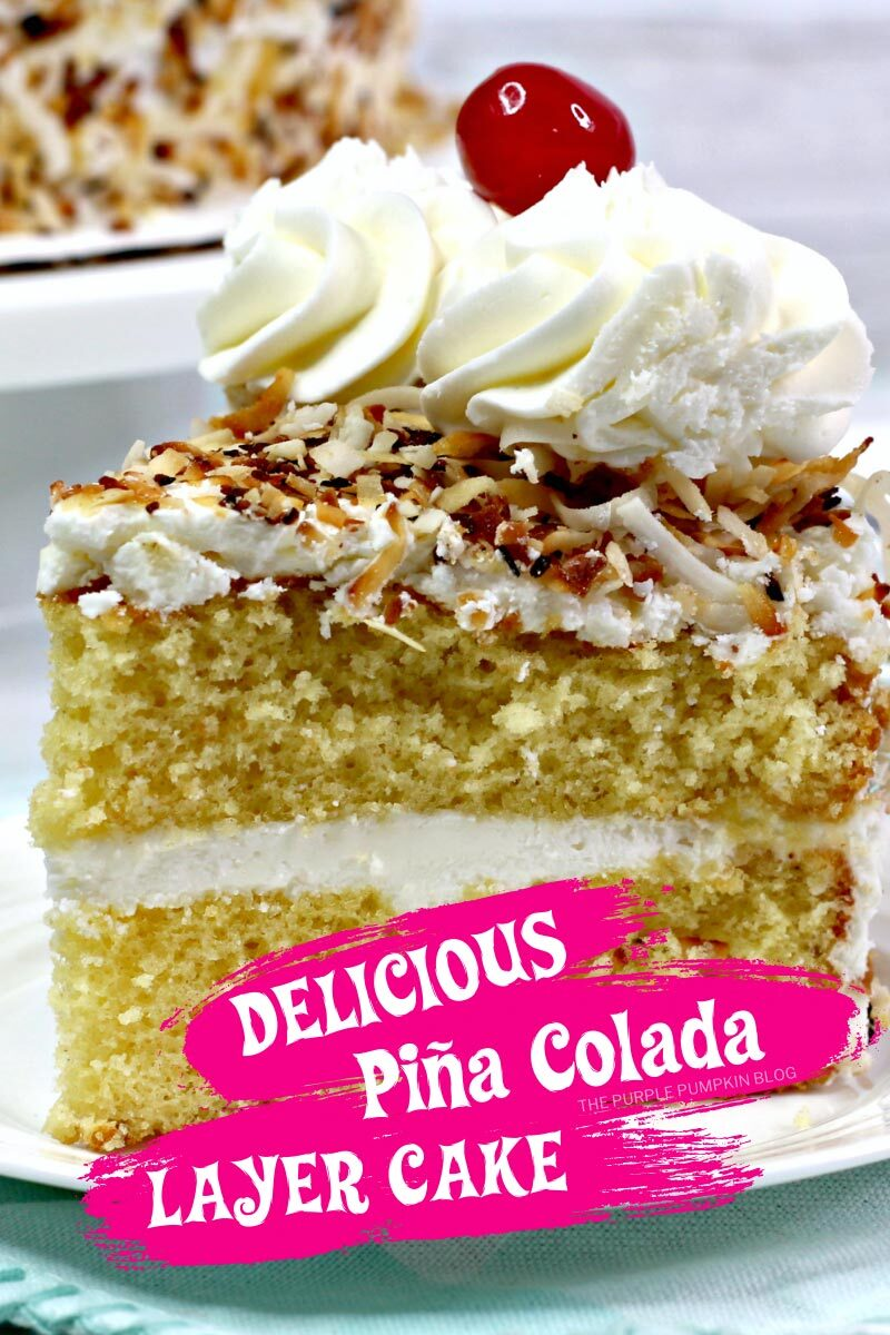 Delicious Pina Colada Layer Cake