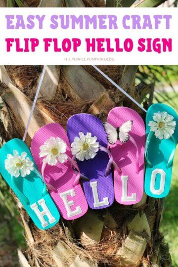 Easy-Summer-Craft-Flip-Flop-Hello-Sign