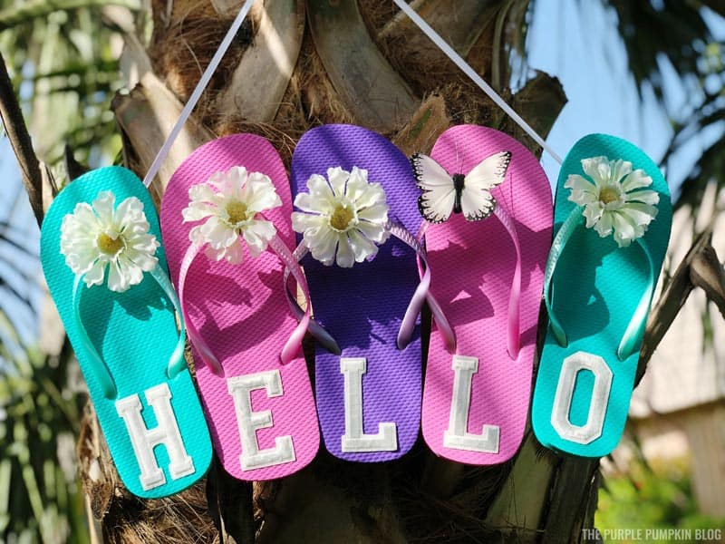 Flip Flop Hello Sign Process - Completed
