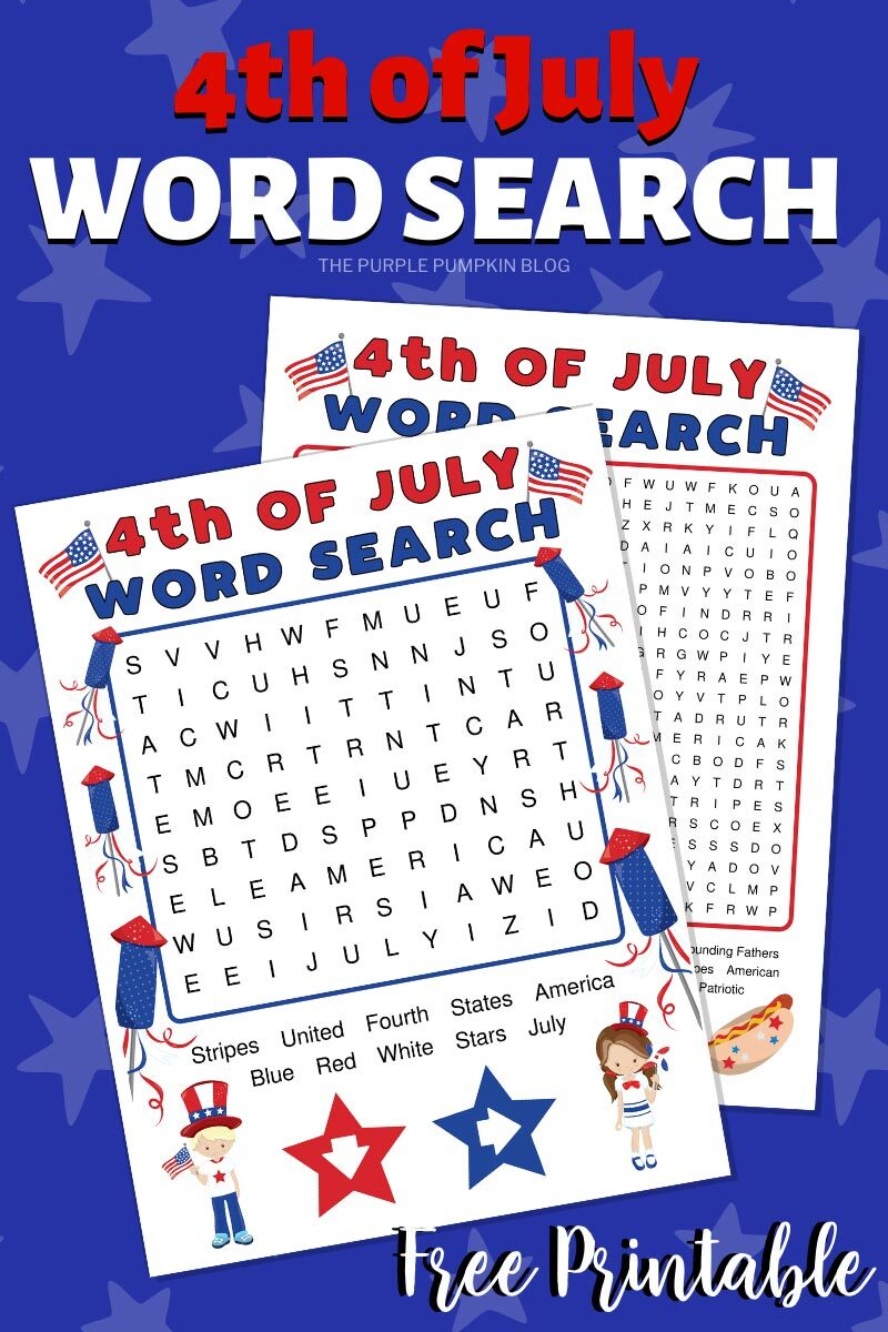 Free Printable 4th of July Word Search (2)