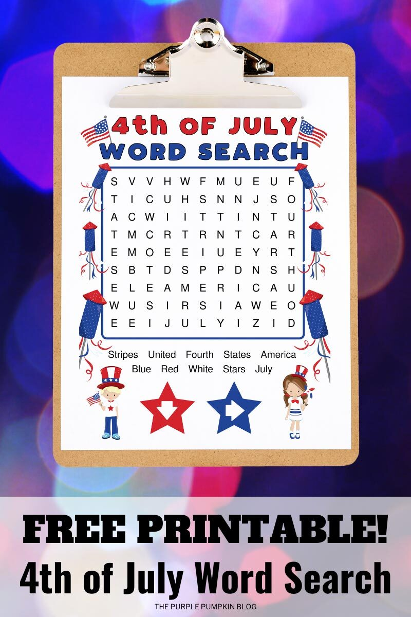 Free Printable 4th of July Word Searches