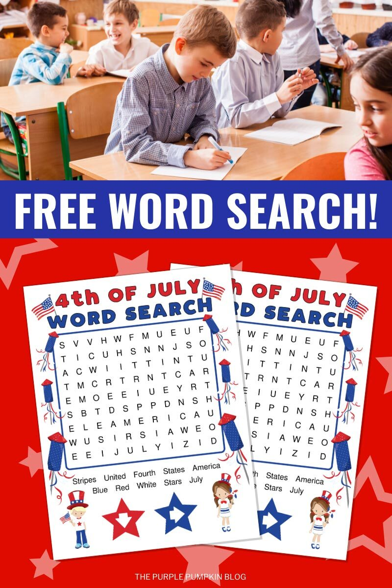 Free Word Search for the Fourth of July