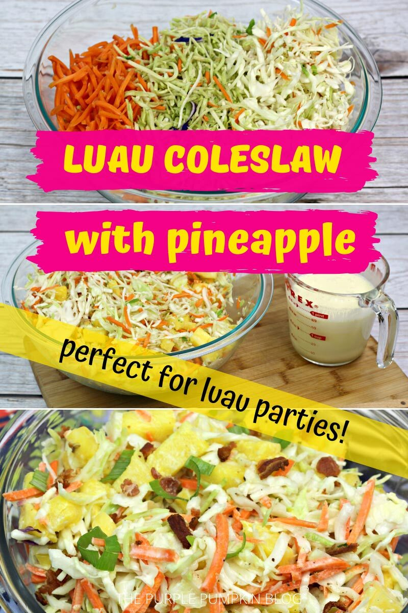 Luau Coleslaw with Pineapple - Perfect for Luau Parties!