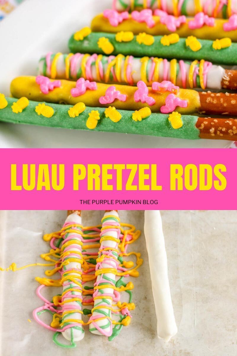 Luau Pretzel Rods
