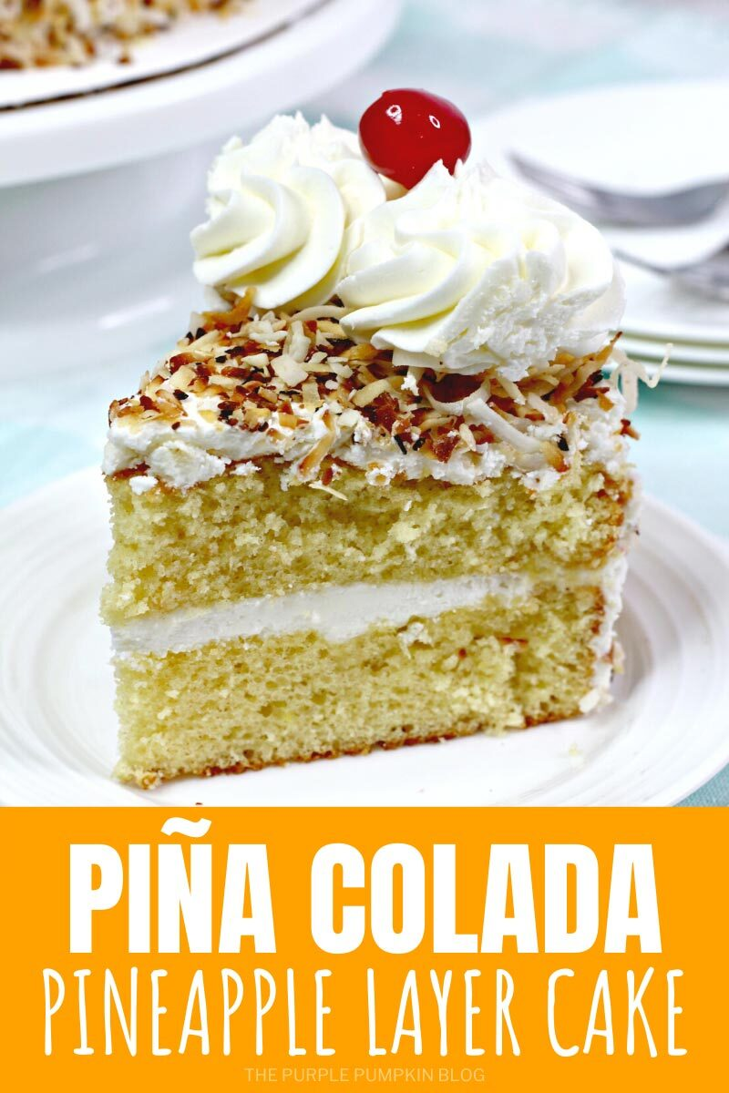 Pina Colada Pineapple Layer Cake